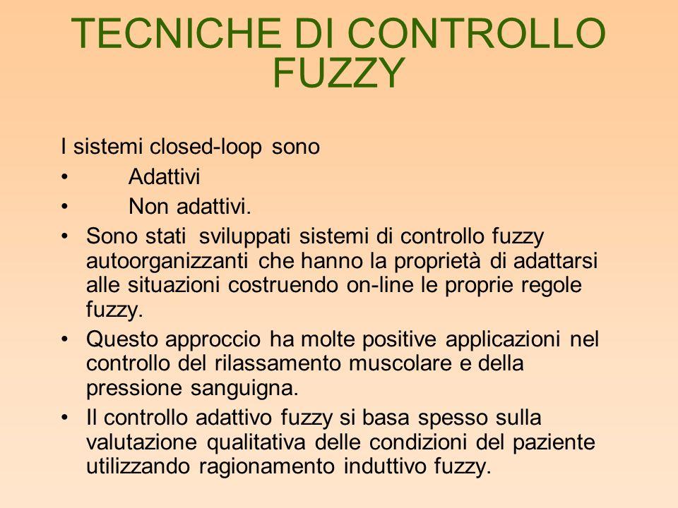 TECNICHE DI CONTROLLO FUZZY