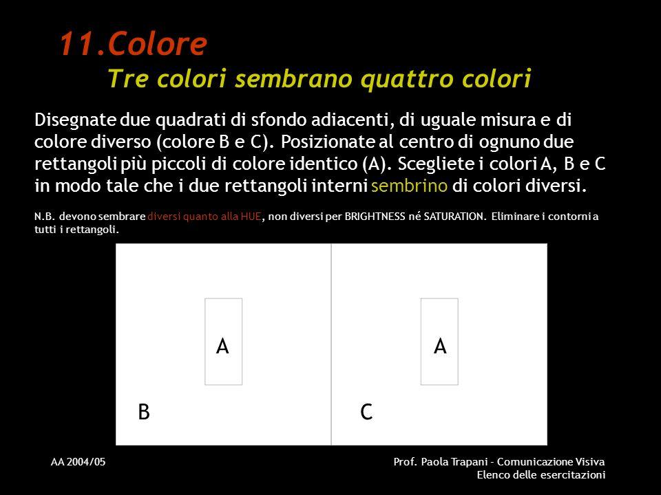 Colore Tre colori sembrano quattro colori