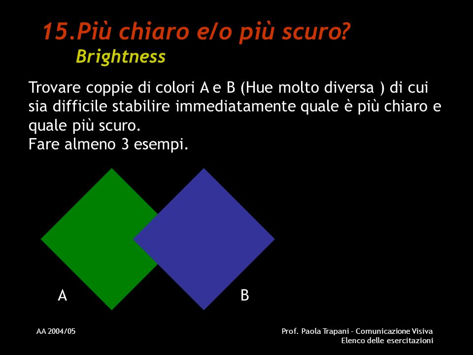 Più chiaro e/o più scuro Brightness