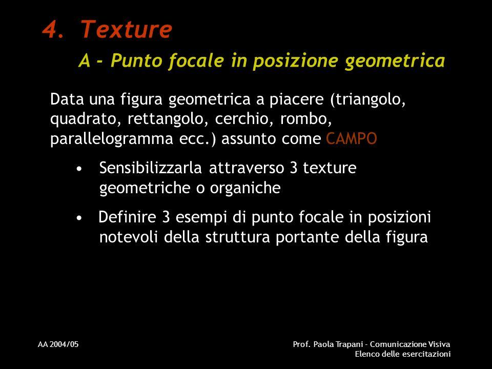 Texture A - Punto focale in posizione geometrica