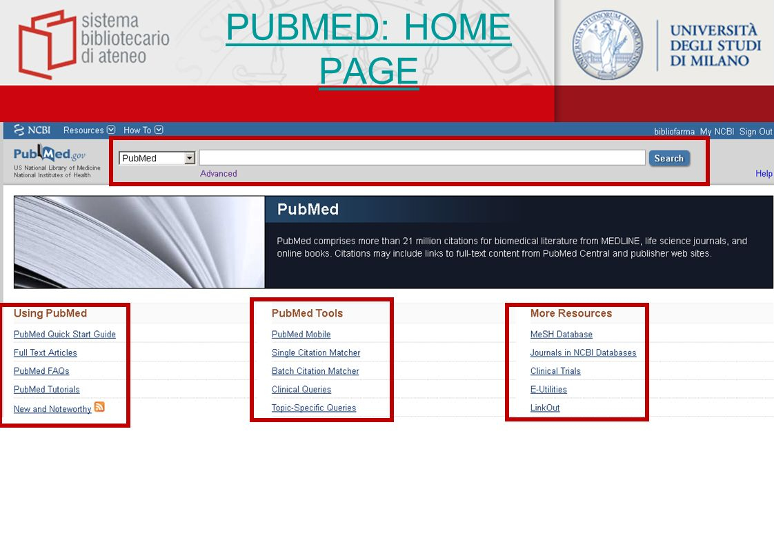 PUBMED: HOME PAGE