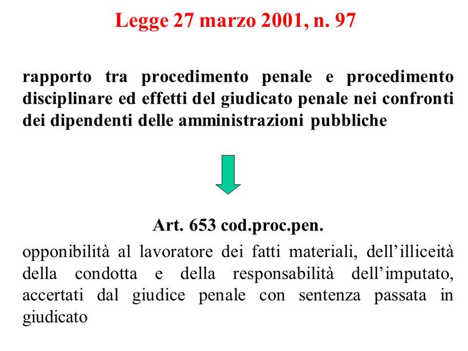 Legge 27 marzo 2001, n. 97