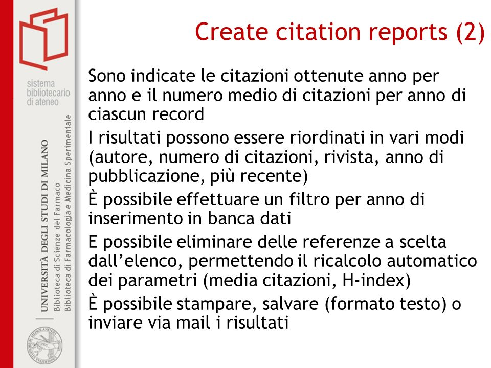 Create citation reports (2)
