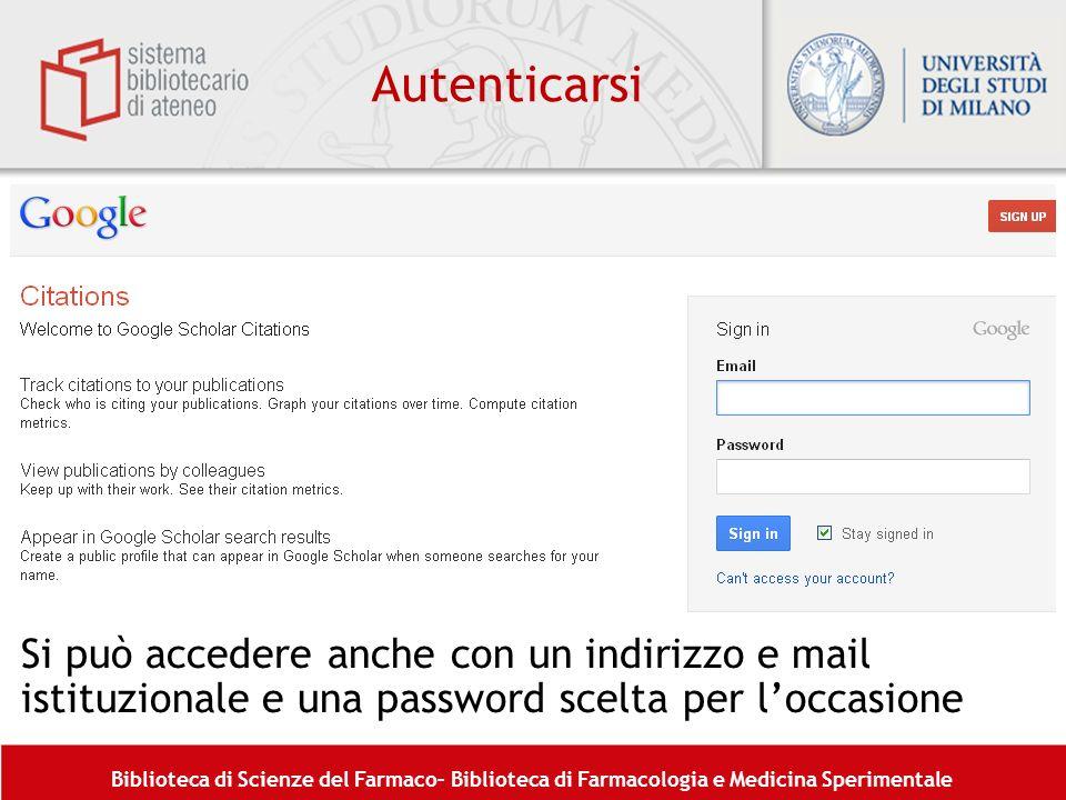 Autenticarsi Si può accedere anche con un indirizzo e mail istituzionale e una password scelta per l'occasione.