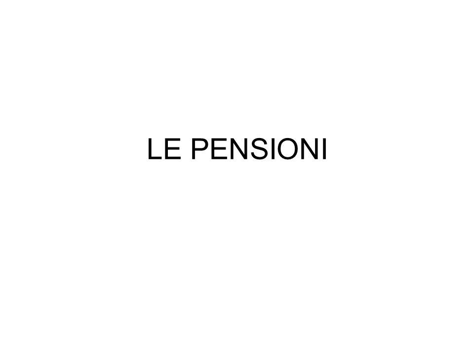 LE PENSIONI
