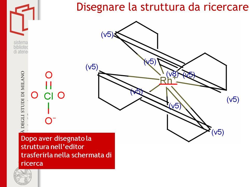 Disegnare la struttura da ricercare