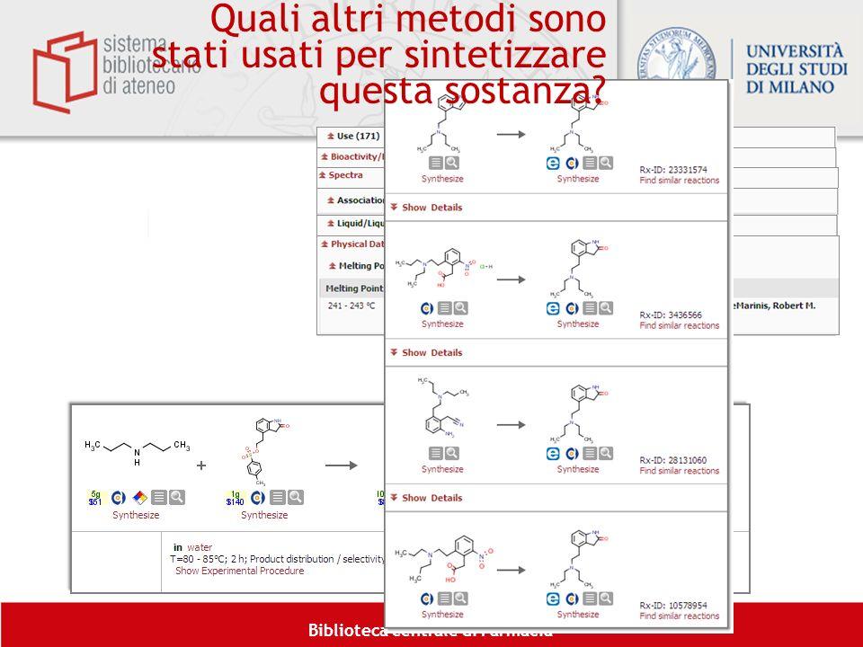 Quali altri metodi sono stati usati per sintetizzare questa sostanza