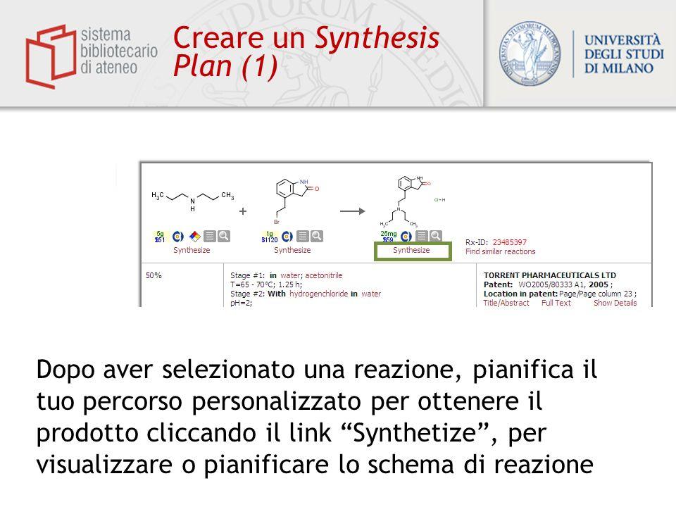 Creare un Synthesis Plan (1)
