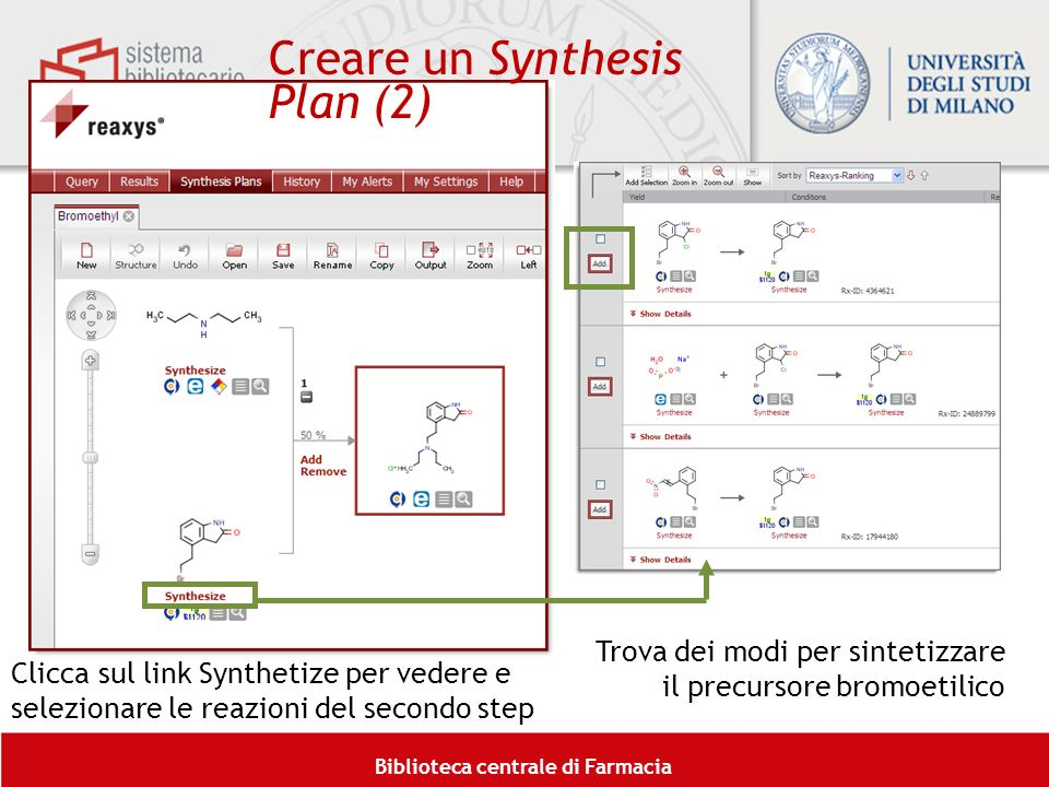 Creare un Synthesis Plan (2)