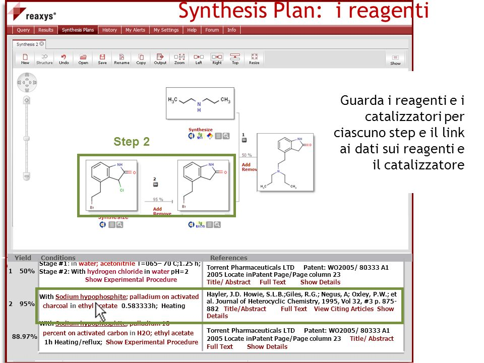 Synthesis Plan: i reagenti
