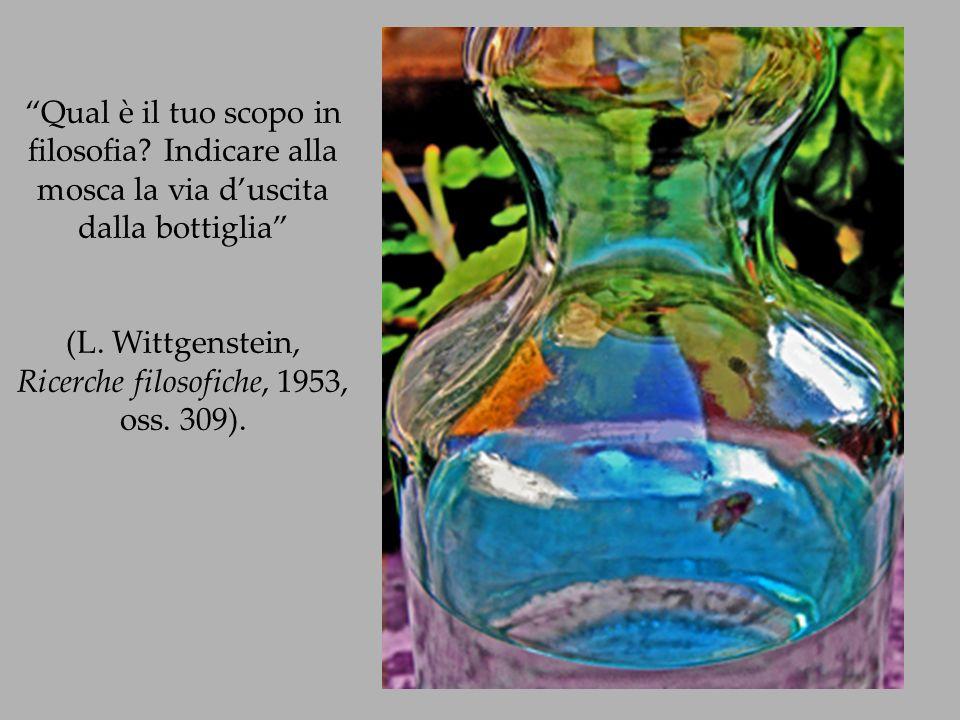 (L. Wittgenstein, Ricerche filosofiche, 1953, oss. 309).
