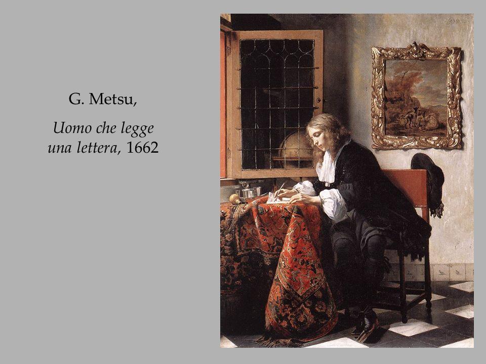 Uomo che legge una lettera, 1662