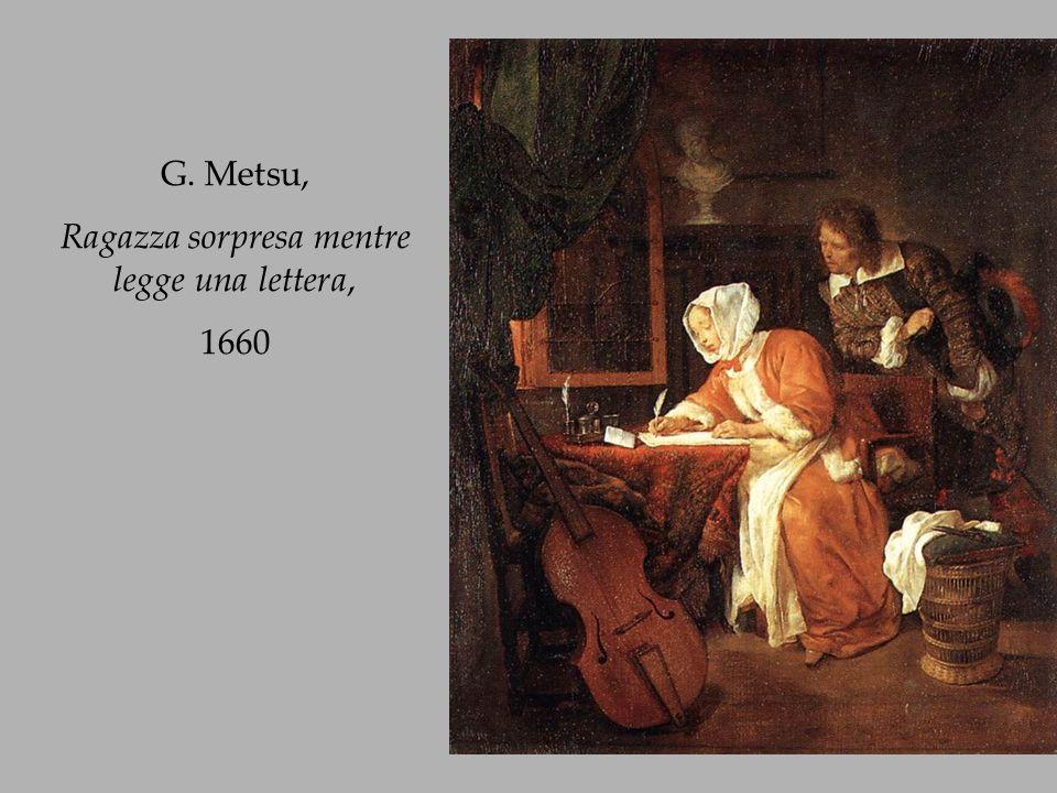 Ragazza sorpresa mentre legge una lettera,