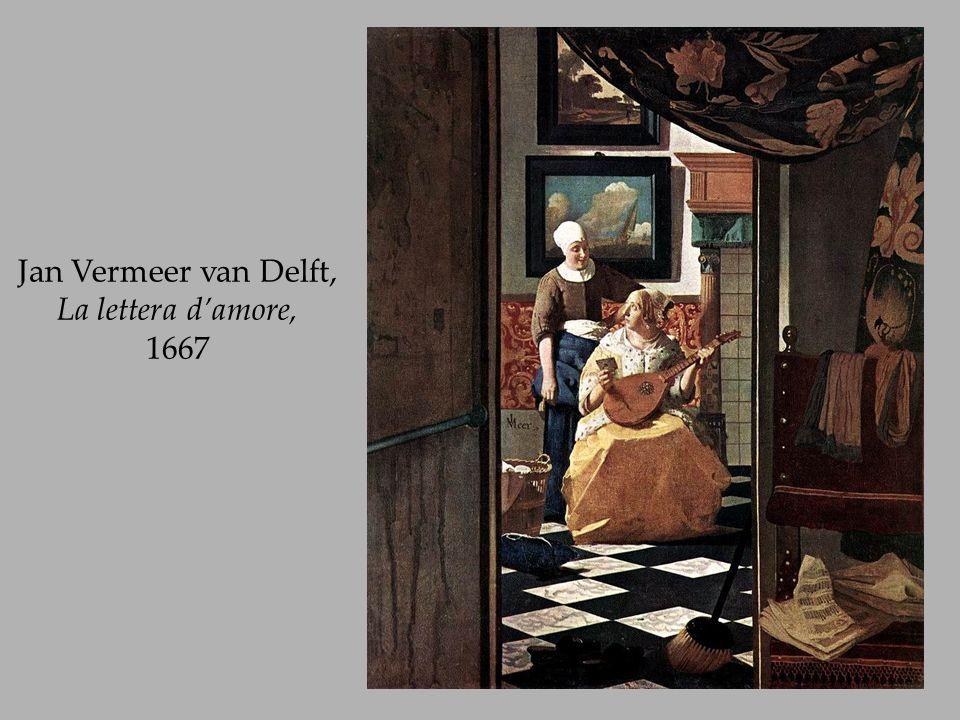 Jan Vermeer van Delft, La lettera d'amore, 1667