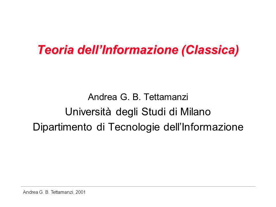 Teoria dell'Informazione (Classica)