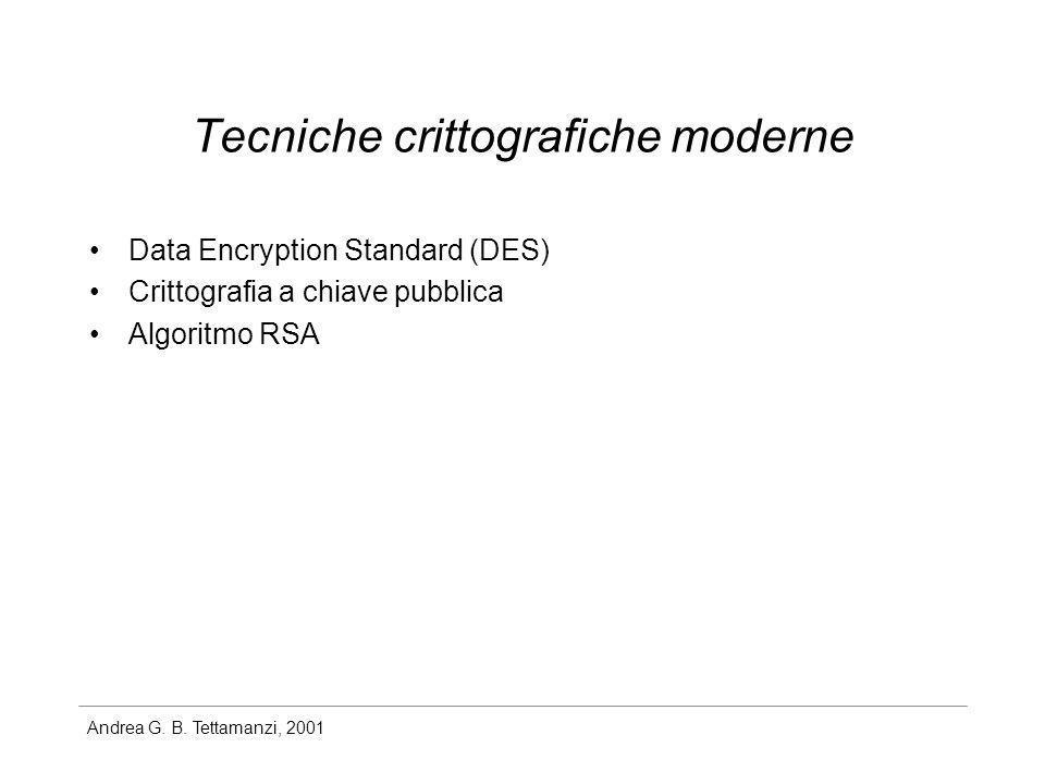 Tecniche crittografiche moderne