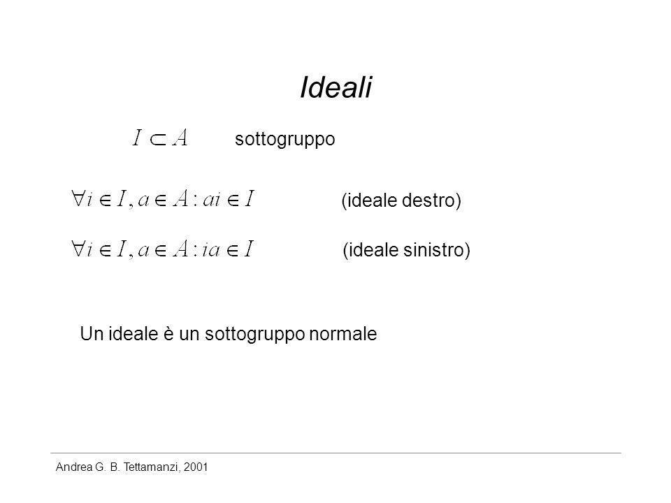 Ideali sottogruppo (ideale destro) (ideale sinistro)