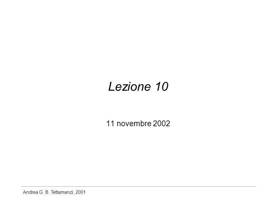 Lezione 10 11 novembre 2002