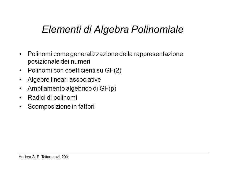 Elementi di Algebra Polinomiale
