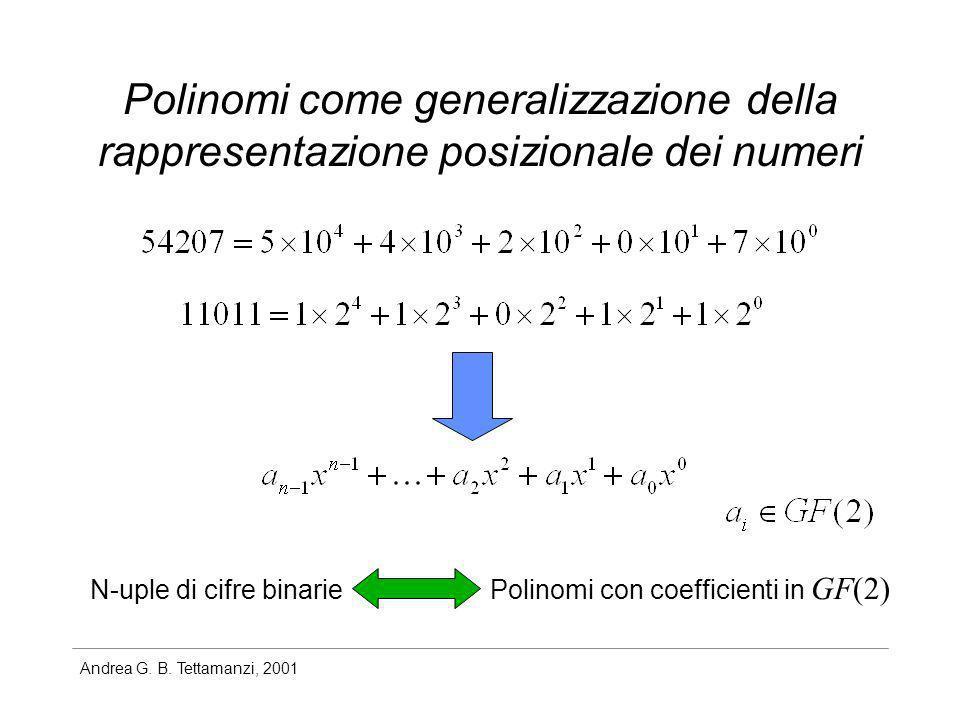 Polinomi come generalizzazione della rappresentazione posizionale dei numeri