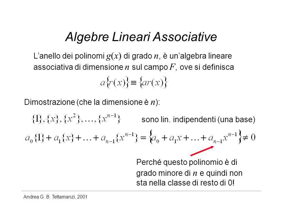 Algebre Lineari Associative