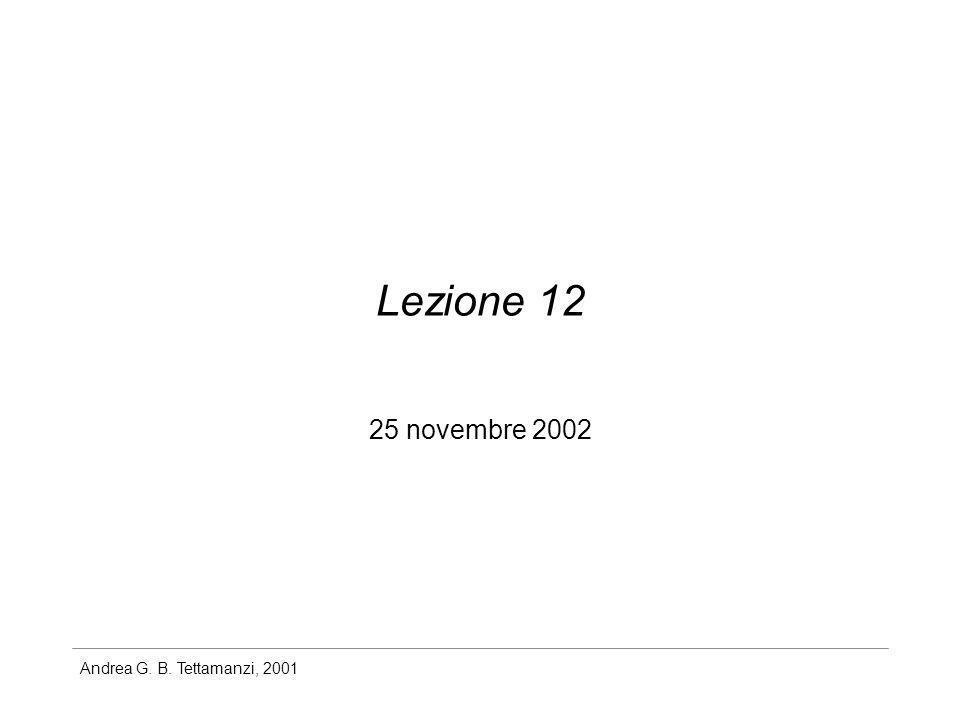 Lezione 12 25 novembre 2002