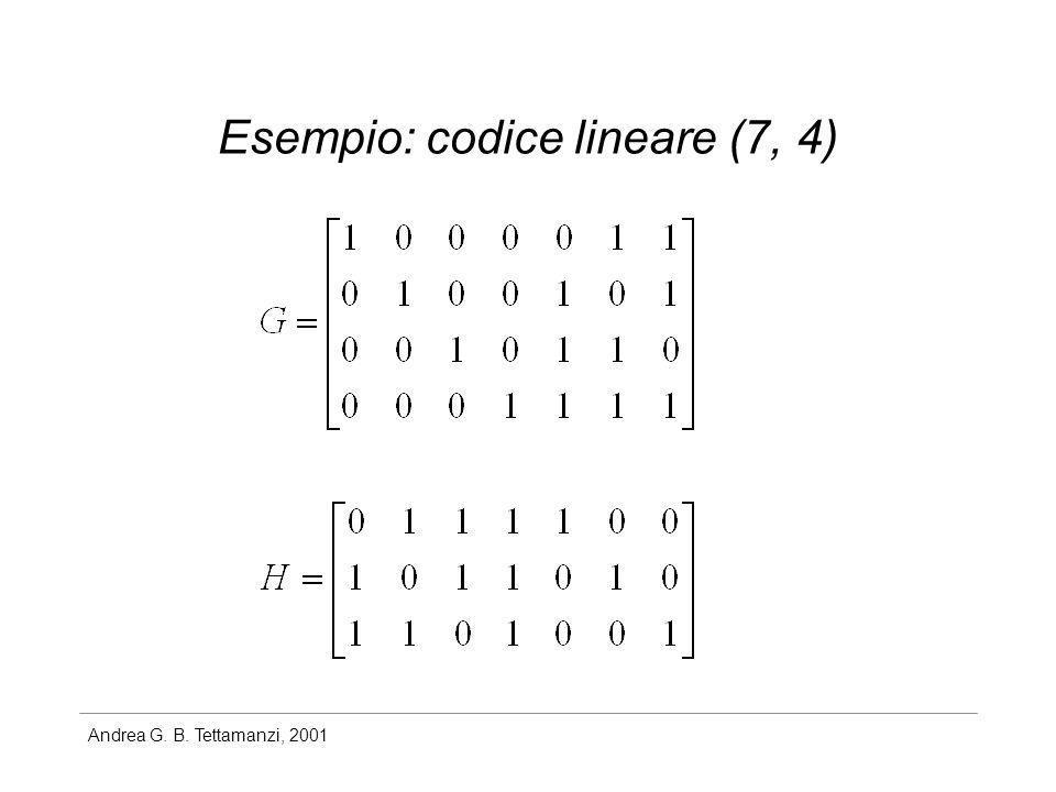 Esempio: codice lineare (7, 4)