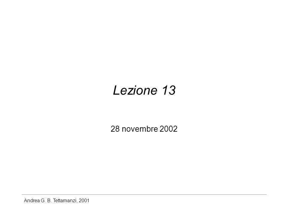 Lezione 13 28 novembre 2002