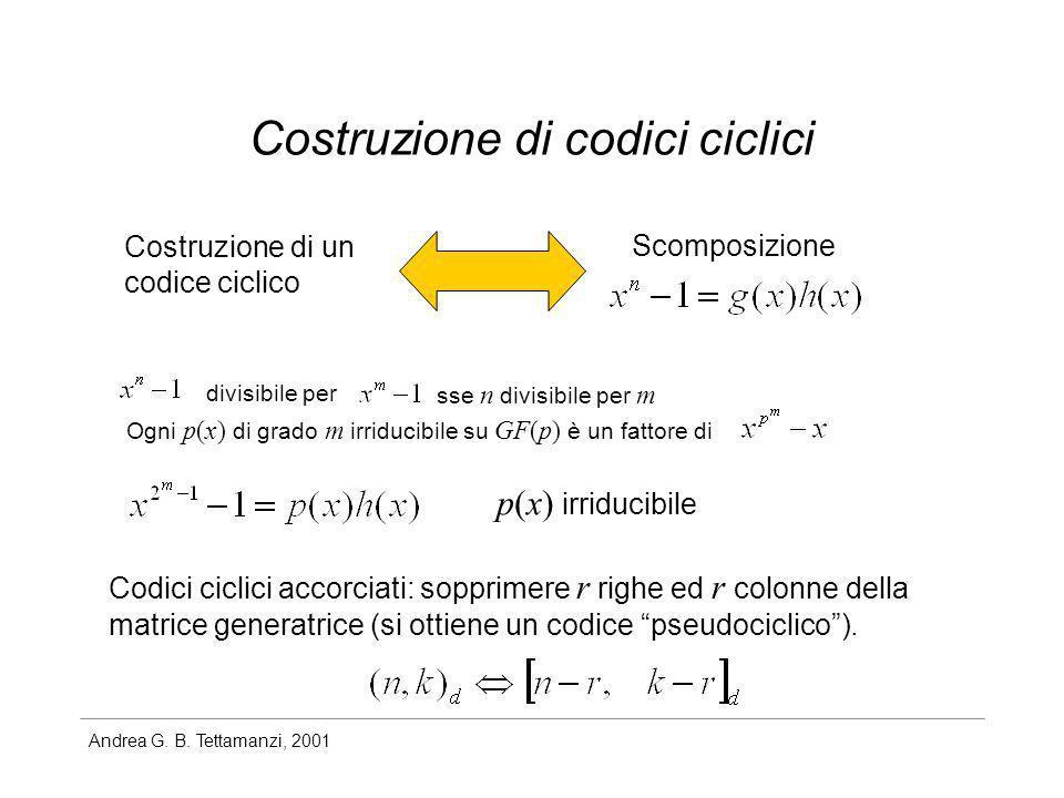 Costruzione di codici ciclici