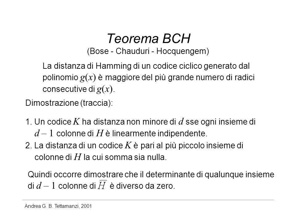 Teorema BCH (Bose - Chauduri - Hocquengem)