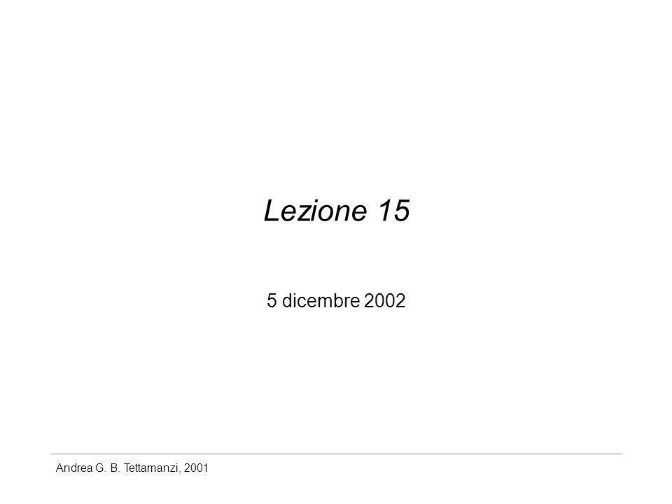 Lezione 15 5 dicembre 2002