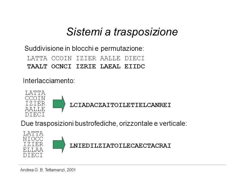 Sistemi a trasposizione