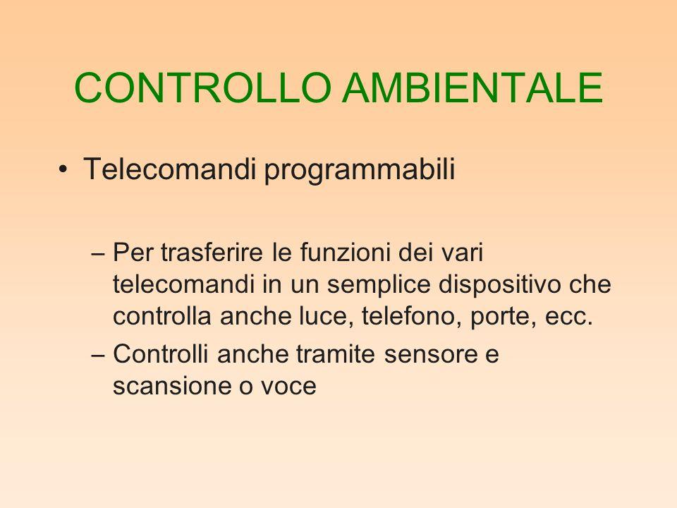 CONTROLLO AMBIENTALE Telecomandi programmabili