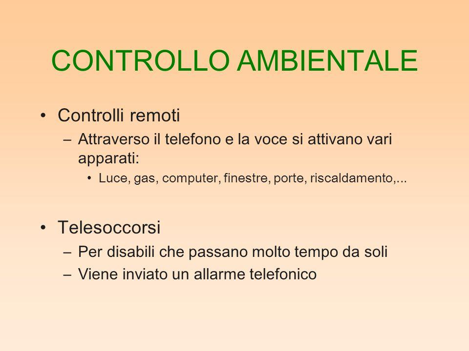 CONTROLLO AMBIENTALE Controlli remoti Telesoccorsi