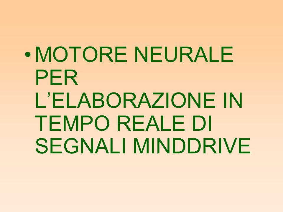 MOTORE NEURALE PER L'ELABORAZIONE IN TEMPO REALE DI SEGNALI MINDDRIVE