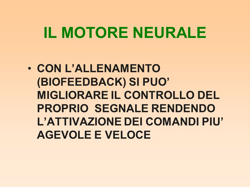 IL MOTORE NEURALE