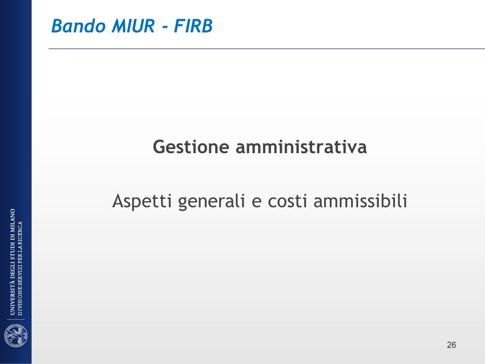 Gestione amministrativa
