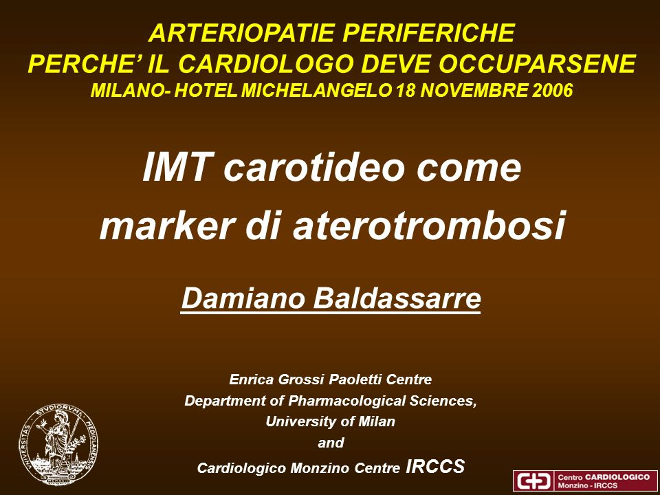 IMT carotideo come marker di aterotrombosi