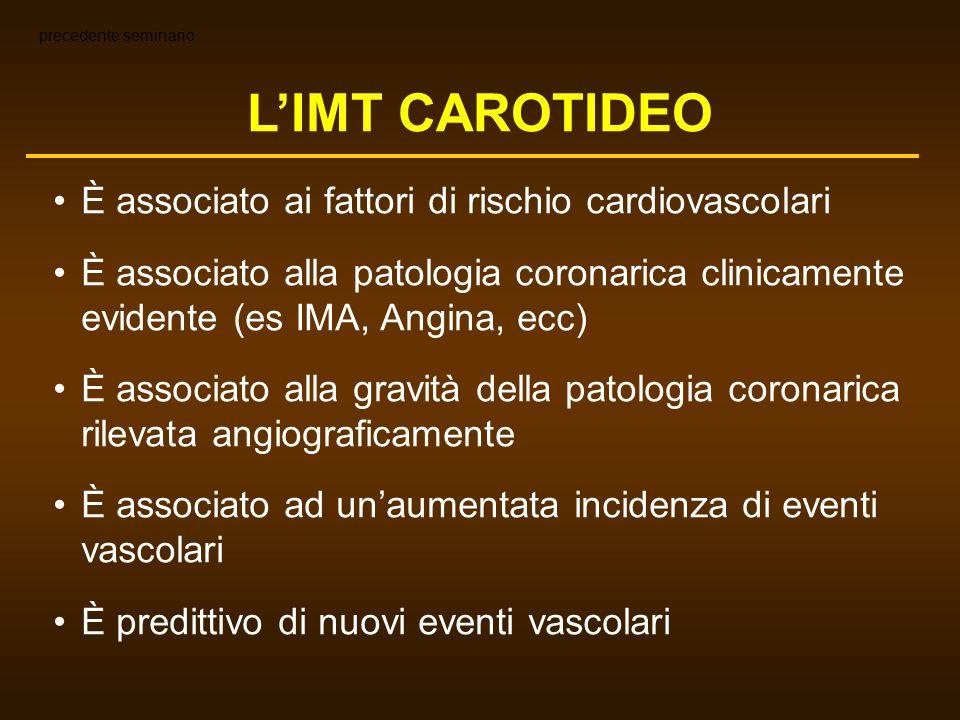 L'IMT CAROTIDEO È associato ai fattori di rischio cardiovascolari
