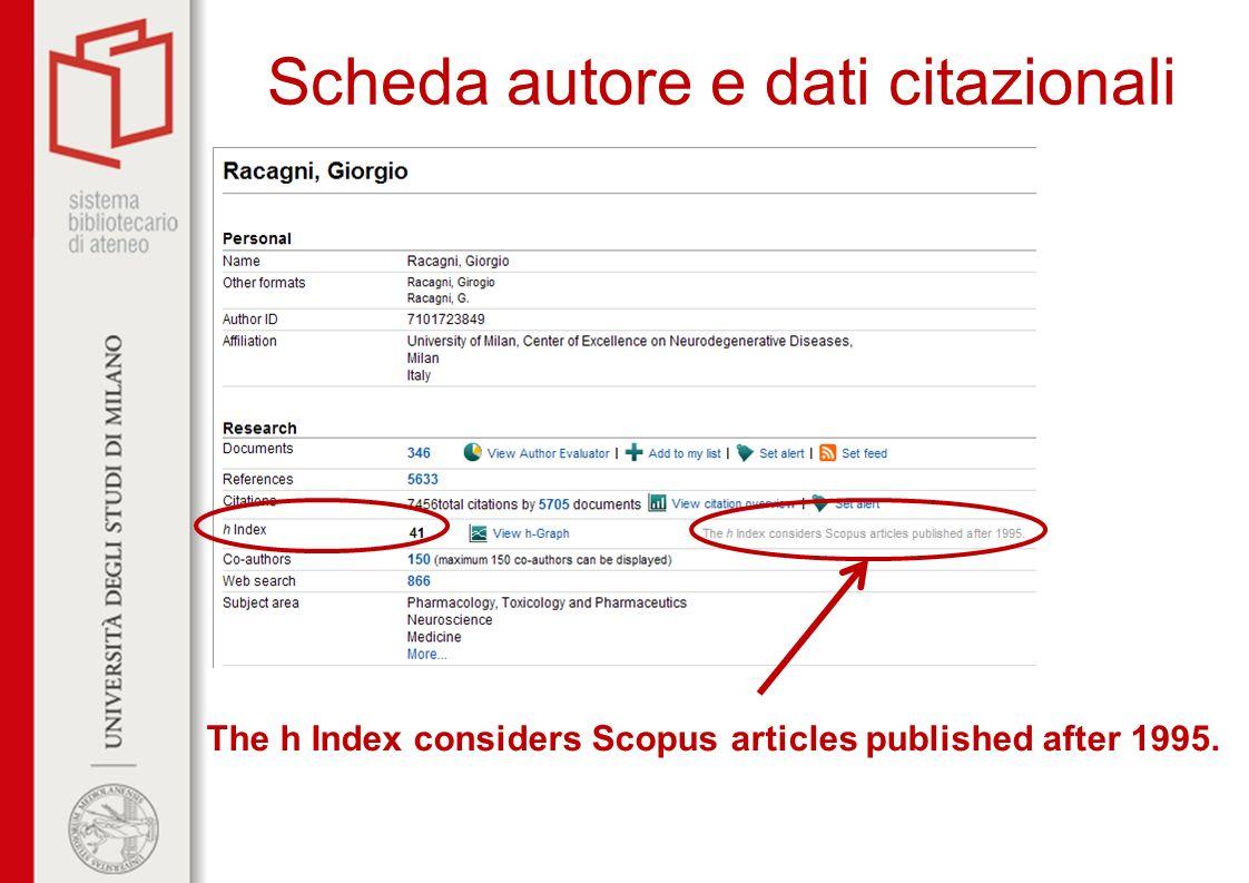 Scheda autore e dati citazionali