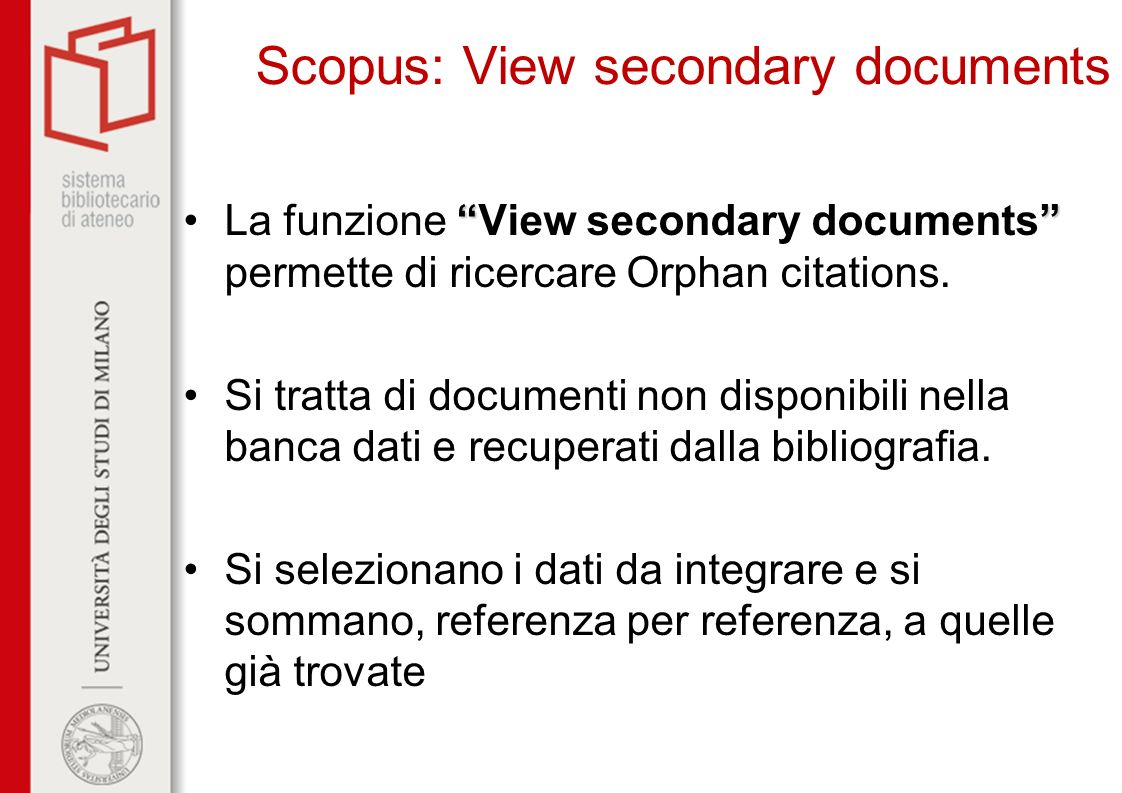 Scopus: View secondary documents