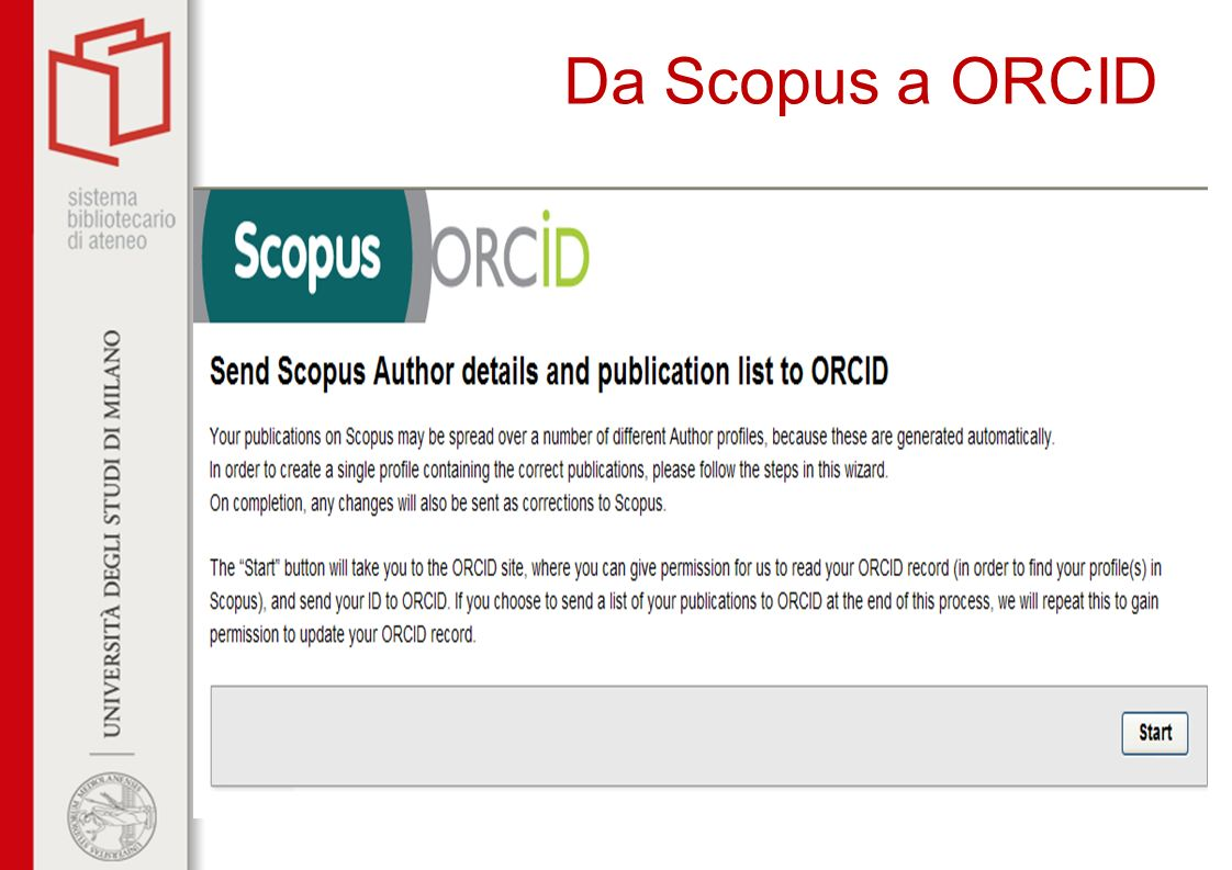 Da Scopus a ORCID