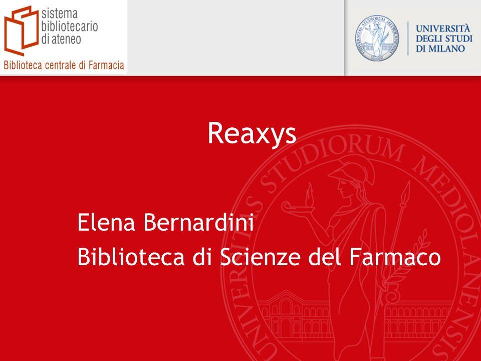 Elena Bernardini Biblioteca di Scienze del Farmaco