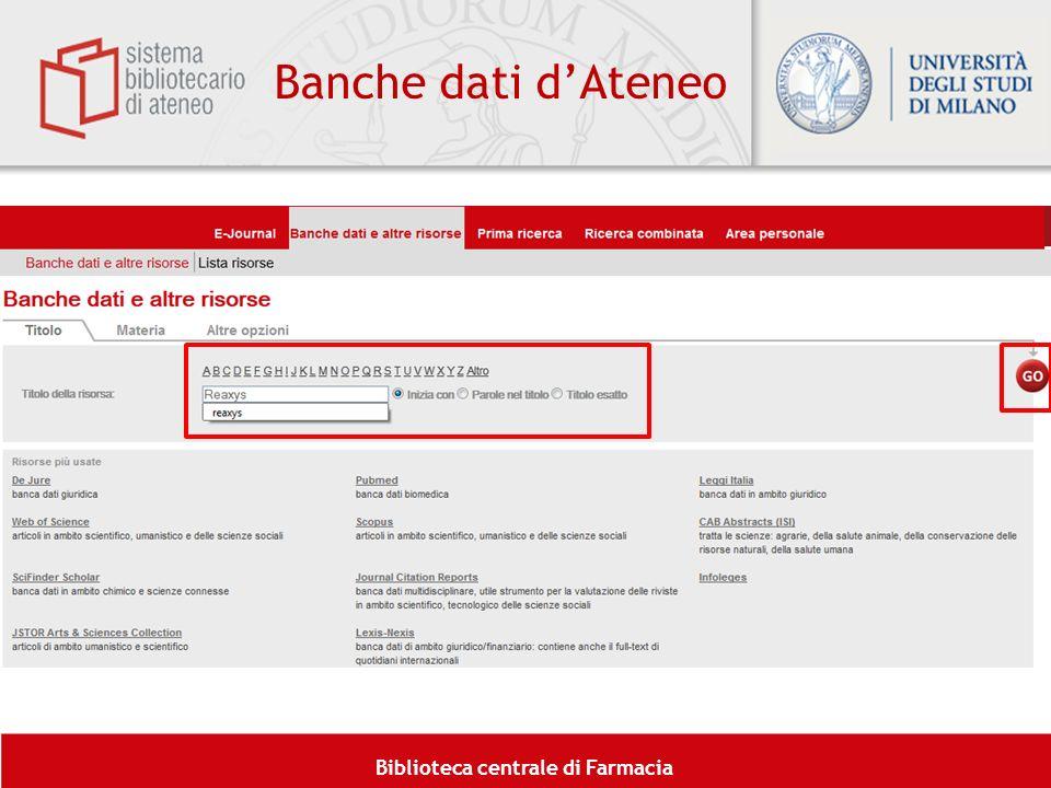Banche dati d'Ateneo