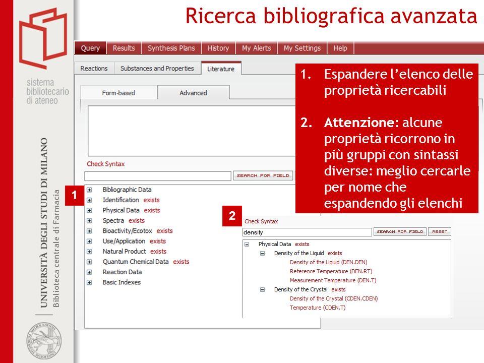 Ricerca bibliografica avanzata