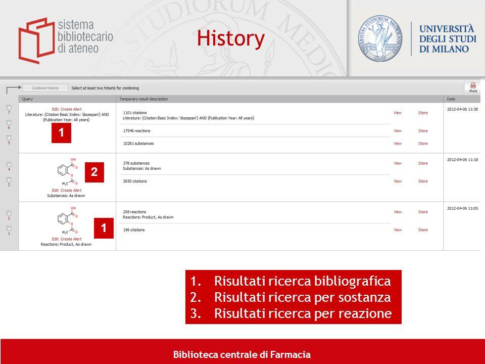 History Risultati ricerca bibliografica Risultati ricerca per sostanza