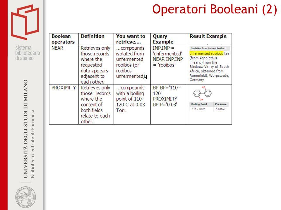 Operatori Booleani (2)