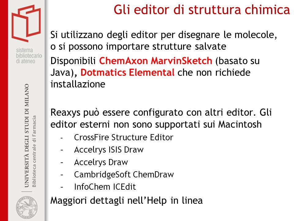 Gli editor di struttura chimica