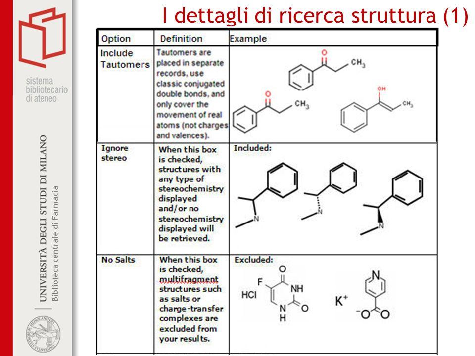 I dettagli di ricerca struttura (1)