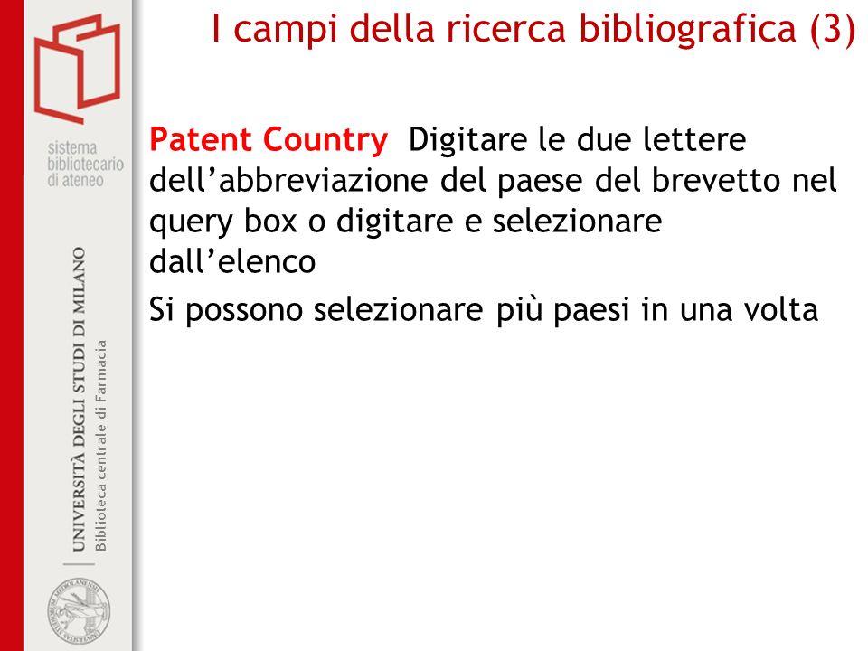 I campi della ricerca bibliografica (3)